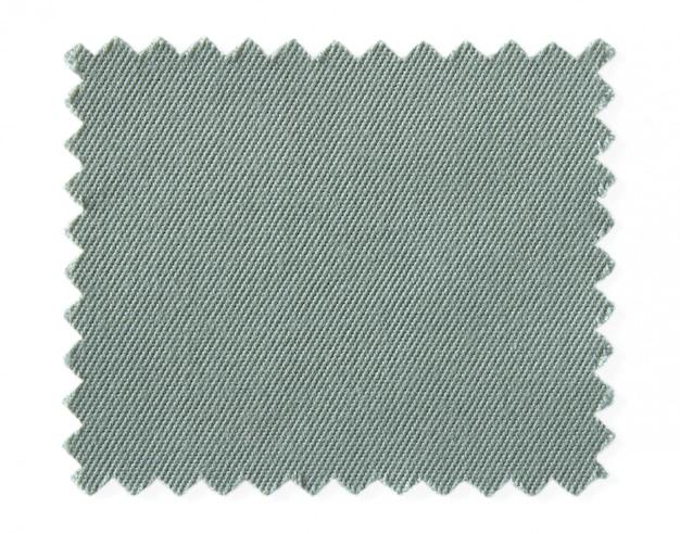 Amostras de amostra de tecido cinza, isoladas no fundo branco