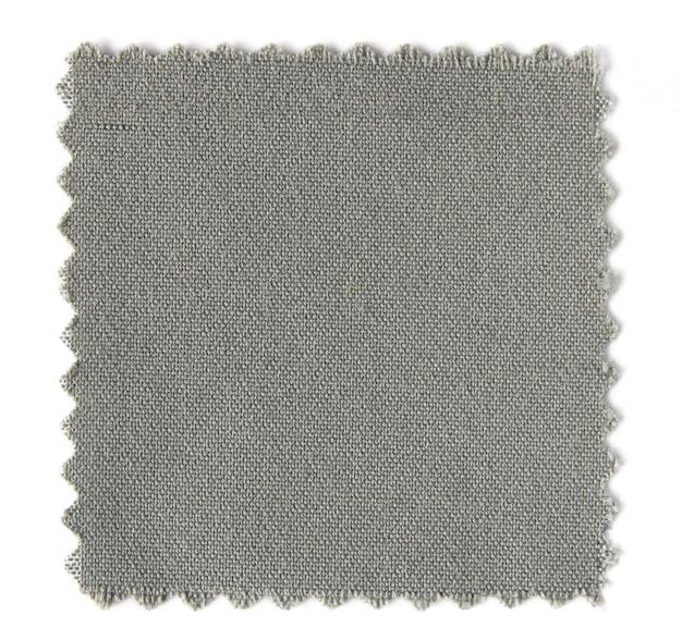 Amostras de amostra de tecido isoladas no fundo branco