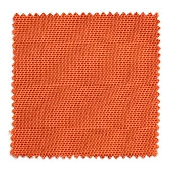 Amostras de amostra de tecido laranja isoladas no fundo branco