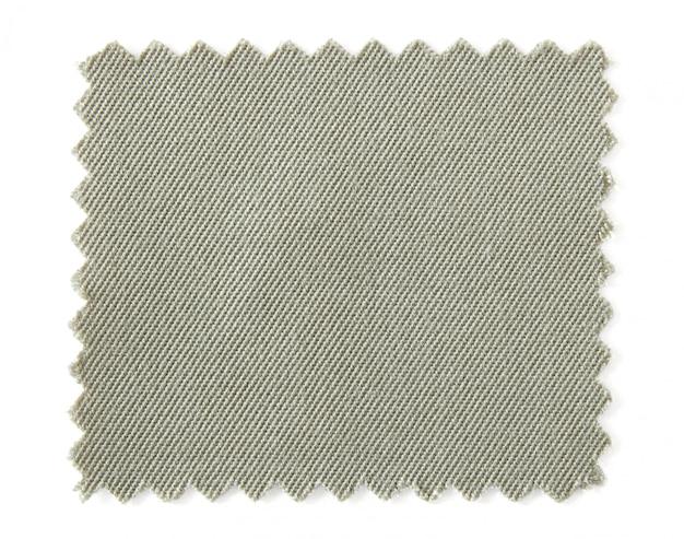Amostras de amostra de tecido natural isoladas no fundo branco