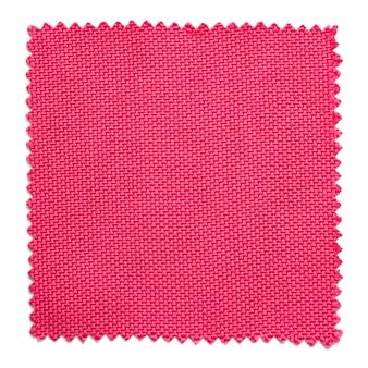 Amostras de amostra de tecido rosa isoladas no fundo branco