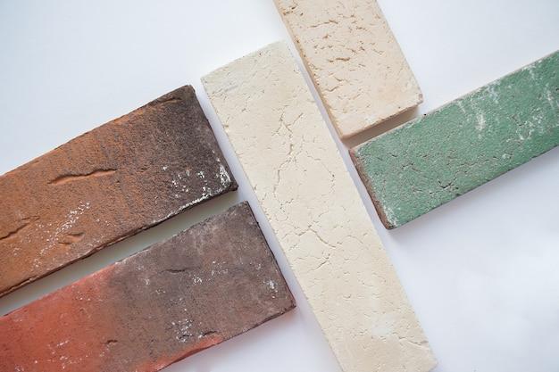 Amostras de blocos de tijolo
