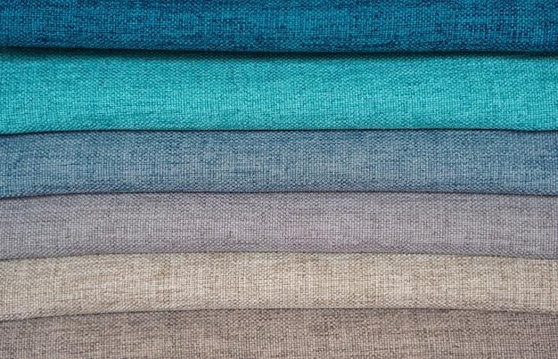 Amostras de cores de tecido para cortinas