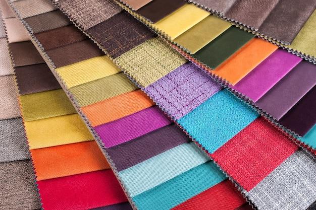 Amostras de cores do tecido de estofamento do sortimento