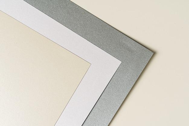 Amostras de papel para negócios e artes de perto, copie o espaço