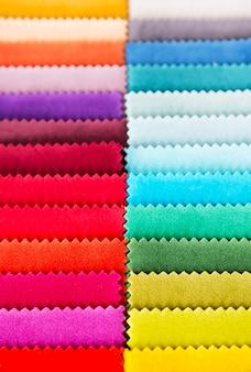 Amostras de textura de tecido multicolorido