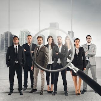 Amplie as lentes em apenas alguns candidatos adequados ao local de trabalho