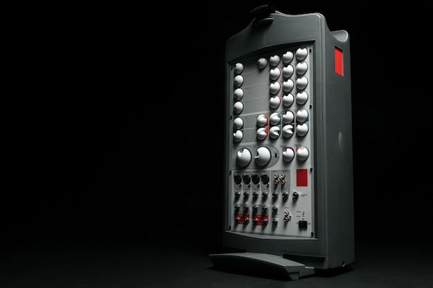 Amplificador de sistema estéreo de música fechar foto