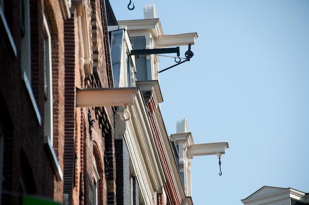 Amsterdam traditional house, armazéns antigos. países baixos