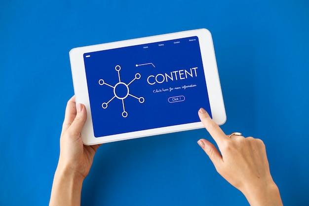Análise de comunicação conectada de conteúdo digital