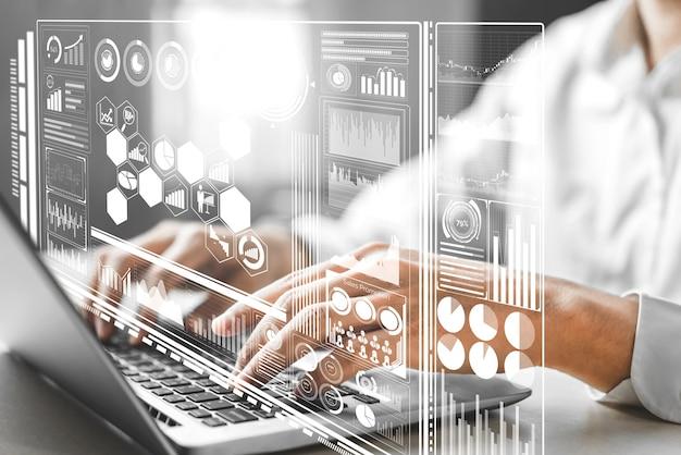 Análise de dados para negócios e conceito de finanças.
