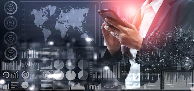 Análise de dados para negócios e conceito de finanças