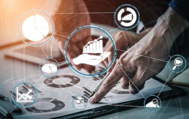 Análise de dados para negócios e conceito de finanças Foto Premium