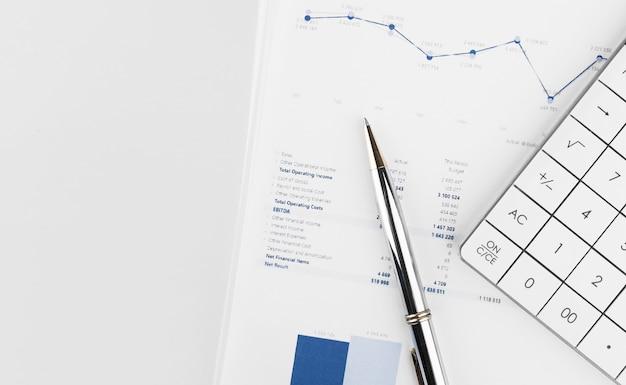 Análise de gráficos de mercado de ações de contabilidade financeira
