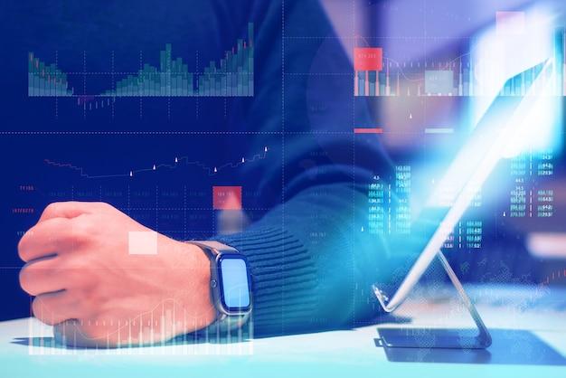 Análise de negócios (ba) com conceito de painel de indicadores-chave de desempenho (kpi).