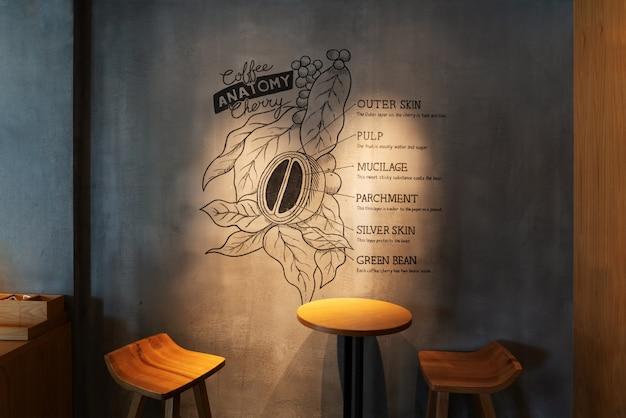 Anatomia da cereja café na cafeteria starbucks