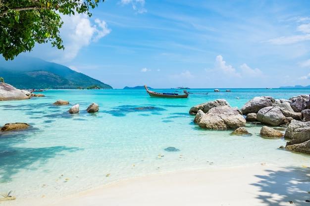 Andaman cristal mar branco areia praia