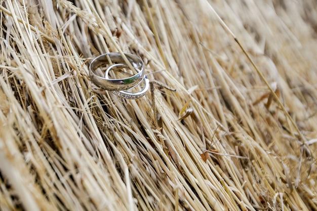 Anéis de casamento bonito