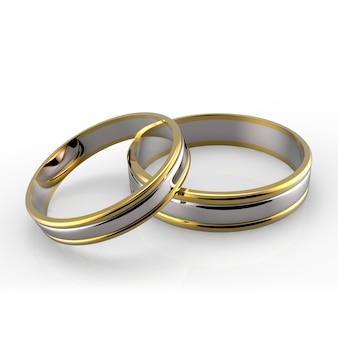 Anéis de casamento de platina