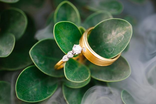 Anéis de casamento, estilo de imagem vintage