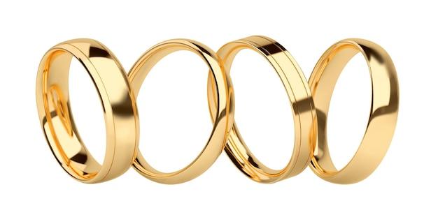 Anéis de ouro levitando