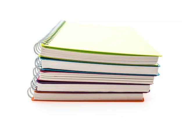 Anéis notebook empilhados