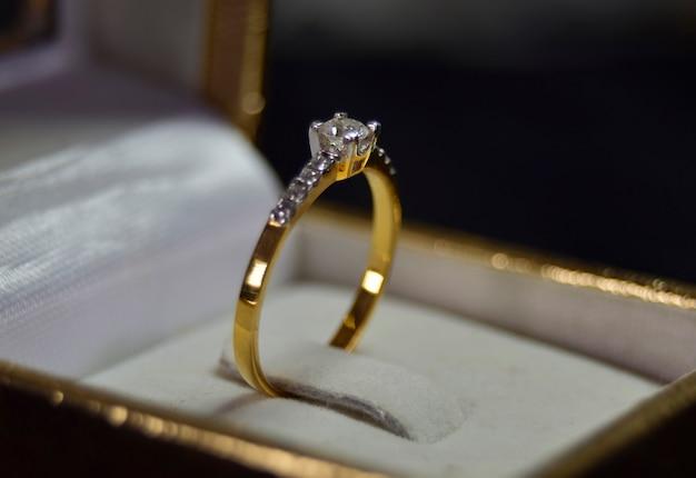 Anel de diamante, anel de casamento de luxo, caro
