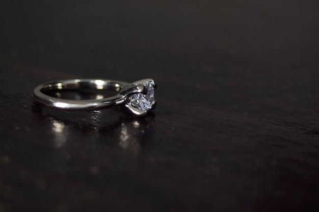 Anel de diamante anel de casamento de luxo