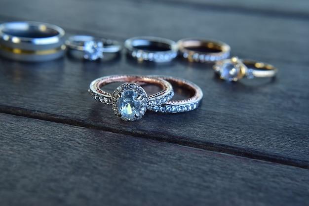 Anel de diamante, anel de casamento de luxo