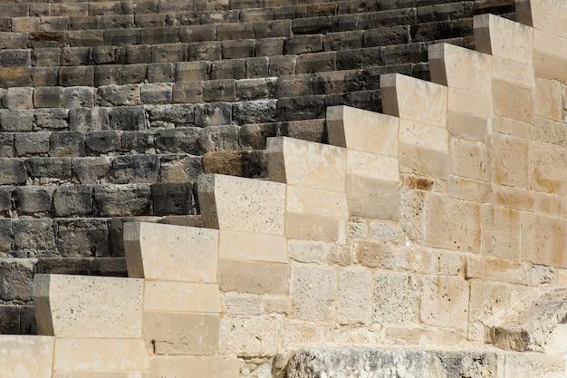 Anfiteatro antigo curium em kourion, chipre