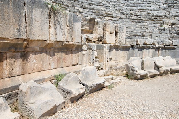 Anfiteatro antigo em myra, turquia Foto Premium