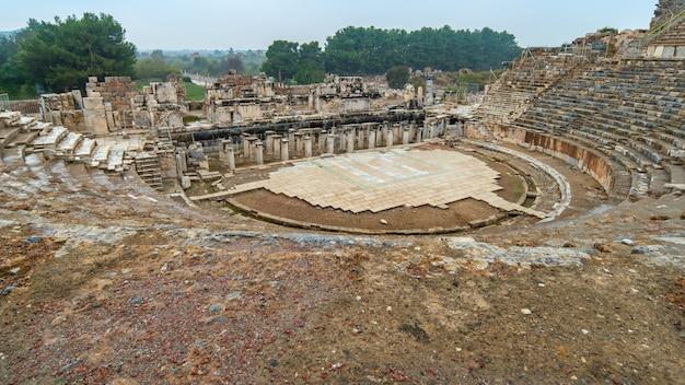 Anfiteatro de éfeso em selcuk, izmir na turquia