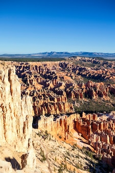 Anfiteatro famoso do parque nacional de bryce canyon, utah, eua