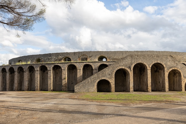 Anfiteatro na antiga cidade romana de pompéia