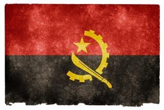 Angola bandeira do grunge listrado