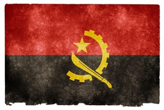 Angola grunge bandeira