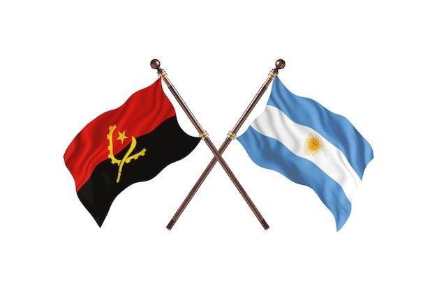 Angola versus argentina bandeiras de dois países