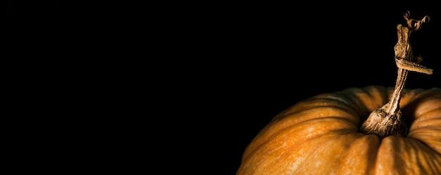 Ângulo alto de abóbora de outono com espaço de cópia