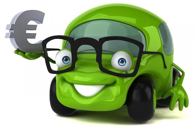 Animação de carro divertido