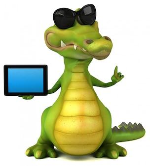 Animação de crocodilo