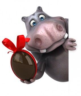 Animação de hipopótamo