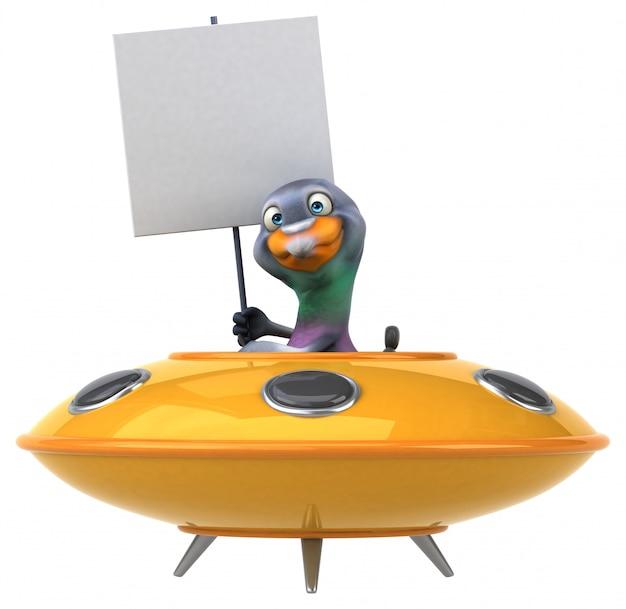Animação de pombo divertida