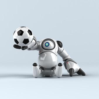 Animação de robô grande