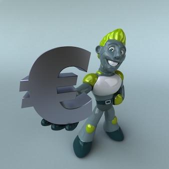 Animação de robô verde
