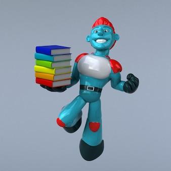 Animação de robô vermelho