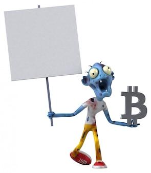 Animação de zumbis e bitcoin