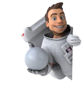 Animação divertida de astronauta