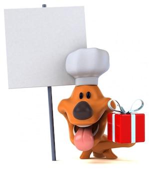 Animação divertida de cachorro