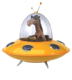 Animação divertida de cavalo