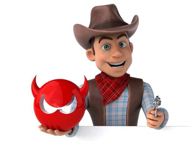 Animação divertida de cowboy